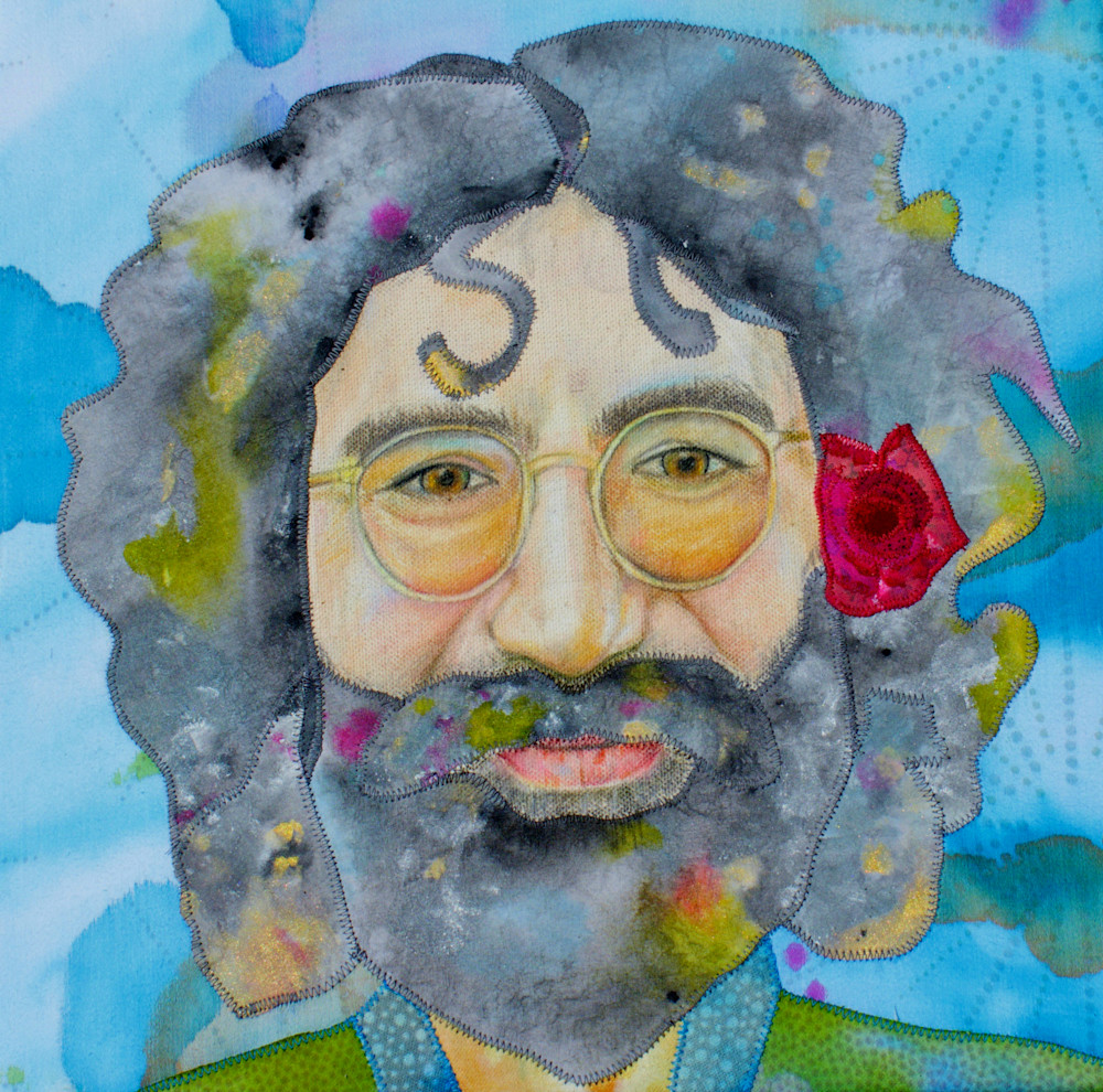 Jerry Garcia Fabric Portrait