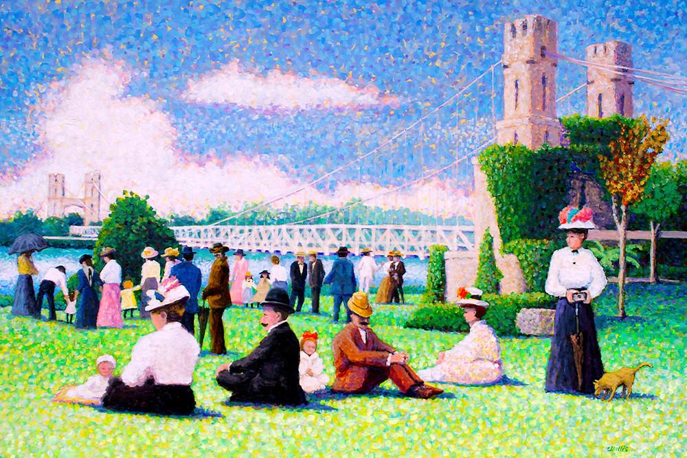 Waco's Historic Suspension Bridge  Art | Charles Wallis
