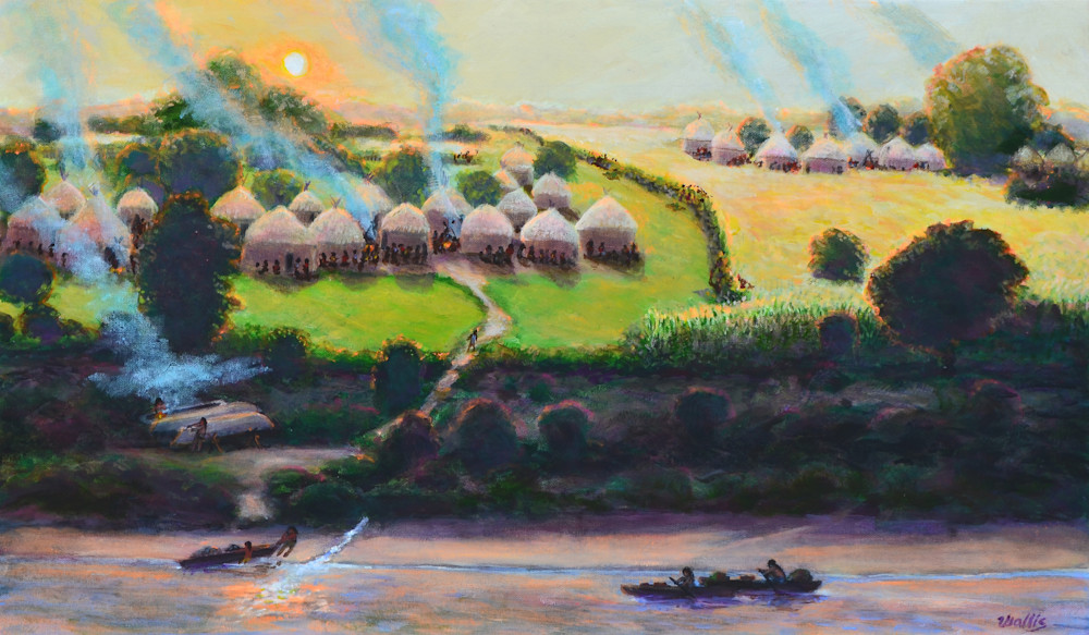 Huaco Indian Village  Art | Charles Wallis