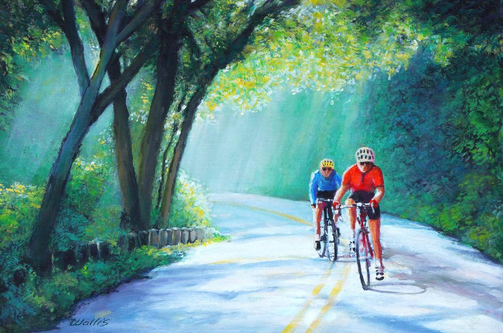 Dawn Cameron Park Bike Ride Art   Charles Wallis
