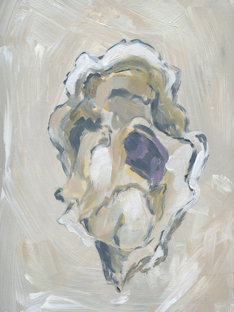 GICLEE PRINT Beige Oyster 3 by April Moffatt