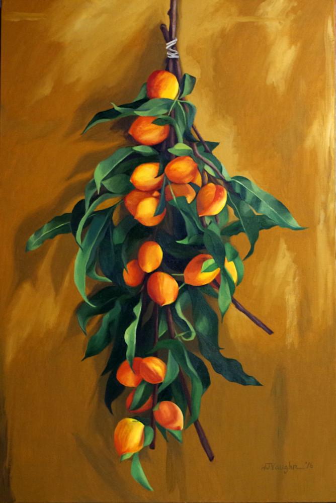 Peach Branches, 2 Art | Helen Vaughn Fine Art