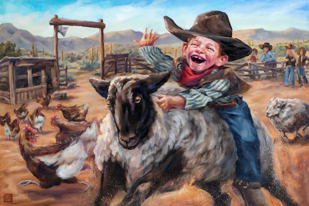 Mutton Bustin! Art | Ans Taylor Art