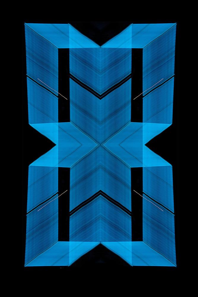 Blue Neon Light Painting Pattern Photography Art   David Louis Klein