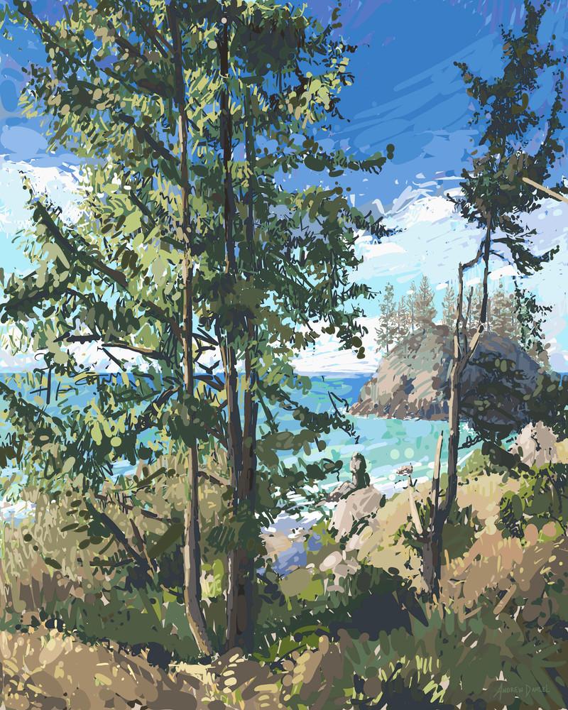 Island Through Trees