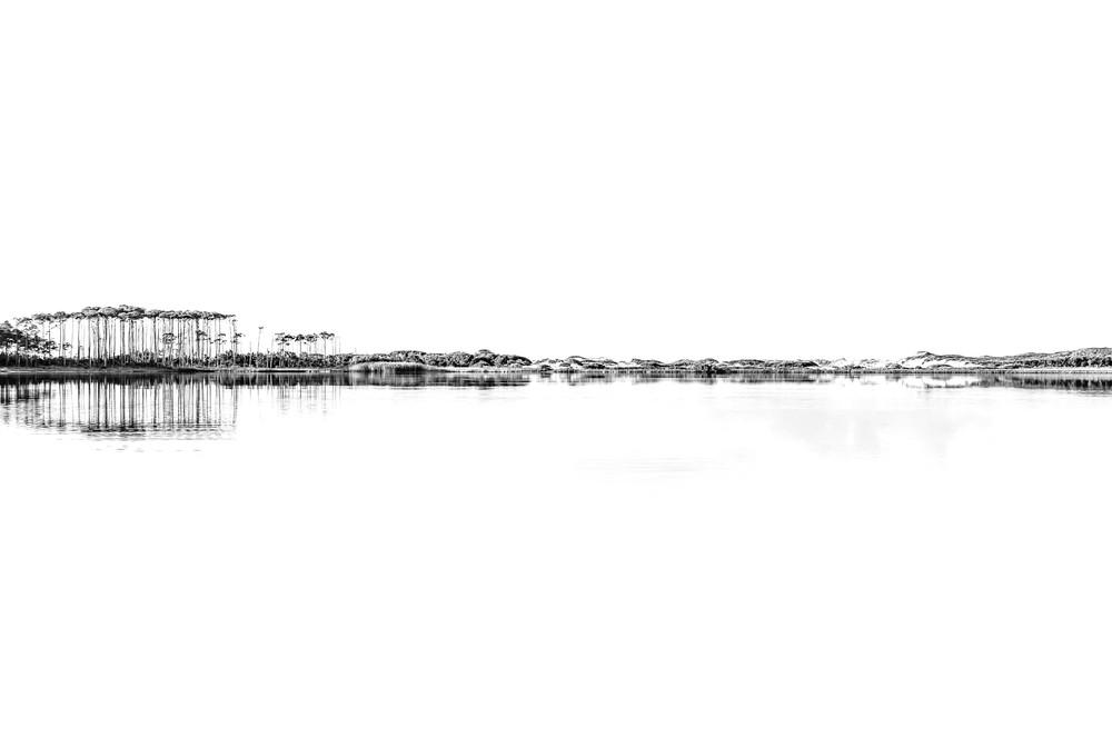 Western Lake White On White Landscape Art | Modus Photography