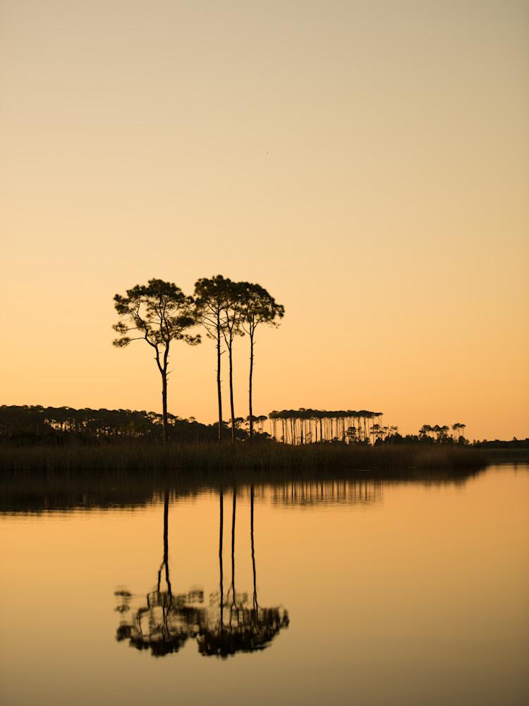 Western Lake Orange Sunset Art   Modus Photography
