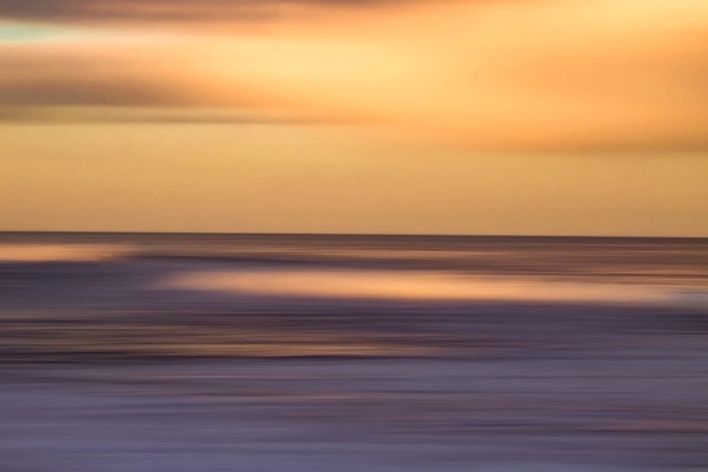 Atlantic Abstract Orange Photography Art | Silver Sun Photography