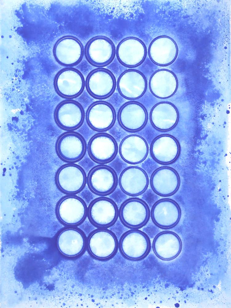 Blue Circles Art | Courtney Miller Bellairs Artist