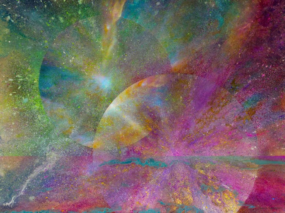 Soul Mates Rising #2 - Original Digital Print by artist David Copson
