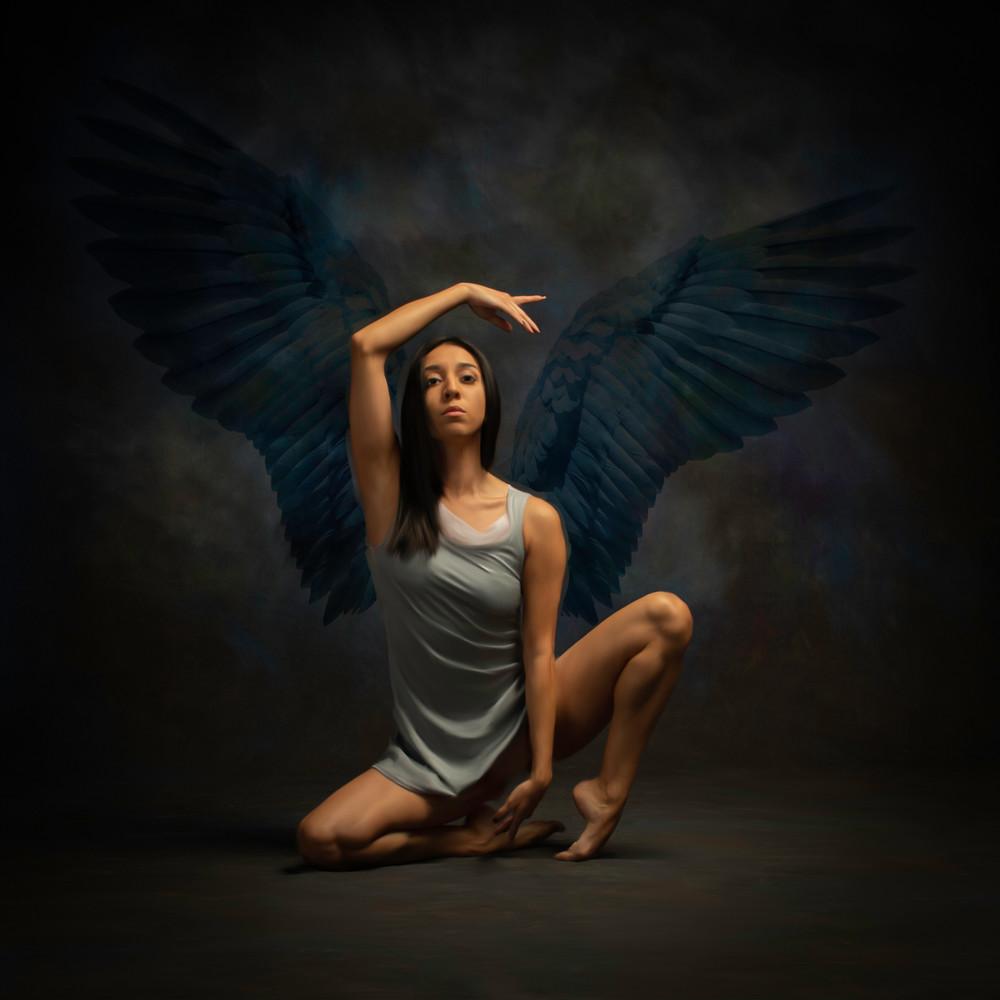 Winged Dancer in Blue