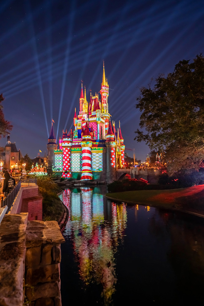 Christmas Castle Projections From Liberty Square Photography Art | William Drew Photography