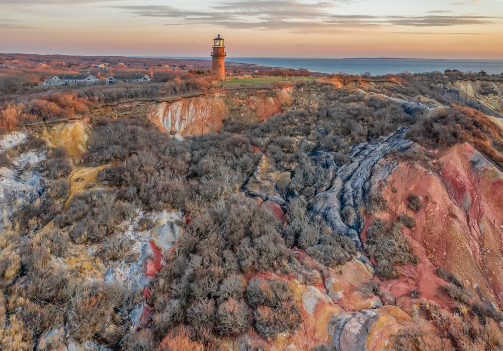 Gay Head Cliffs Sunset Drone Art | Michael Blanchard Inspirational Photography - Crossroads Gallery
