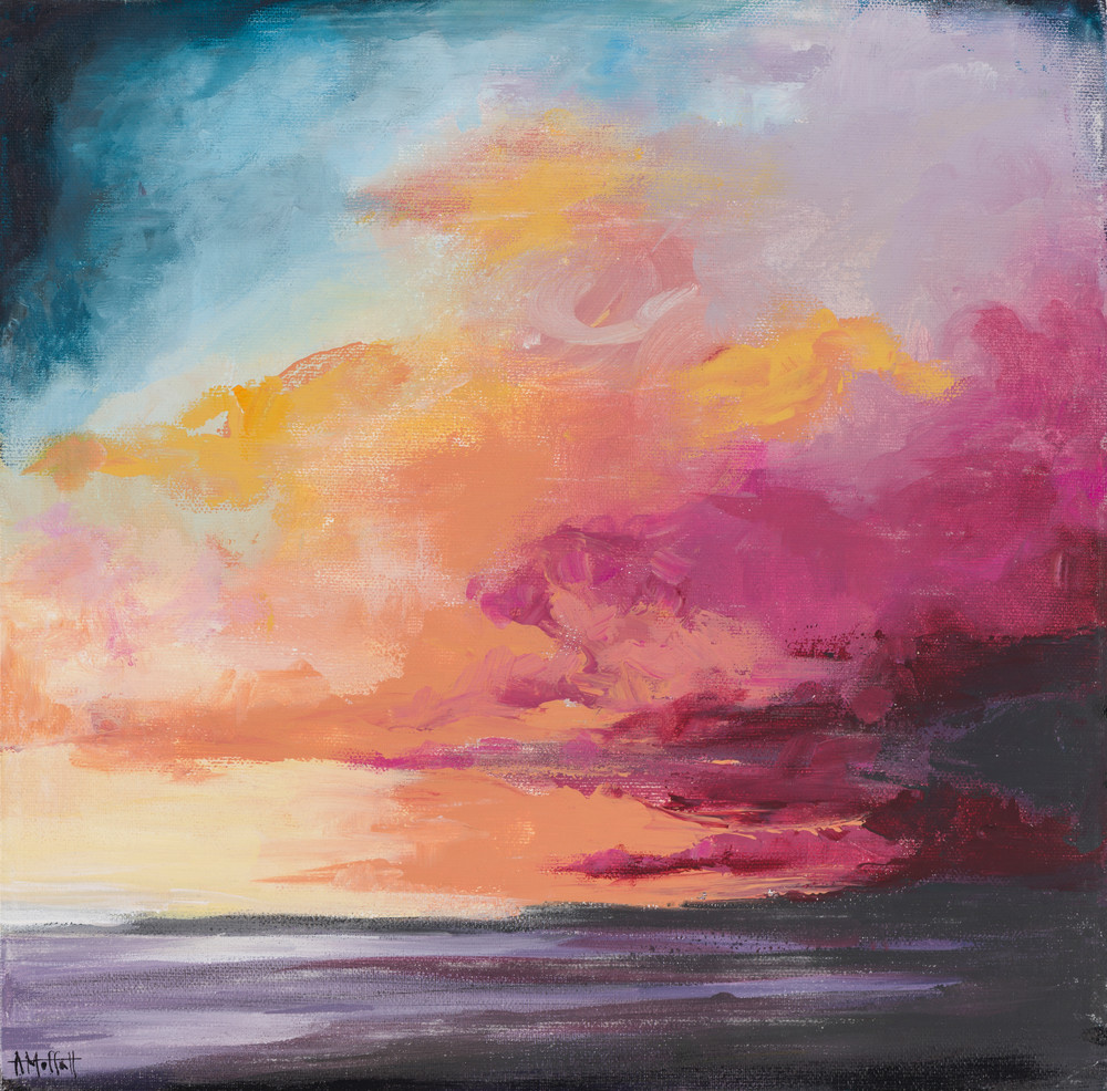 Giclee Print Hot Pink Storm over Sullivan's Island by April Moffatt