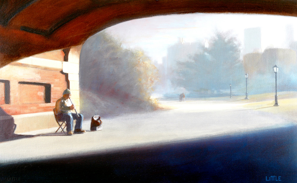 'Central Park Solo' Print of original oil painting by Ed Little, Bridgewater, CT