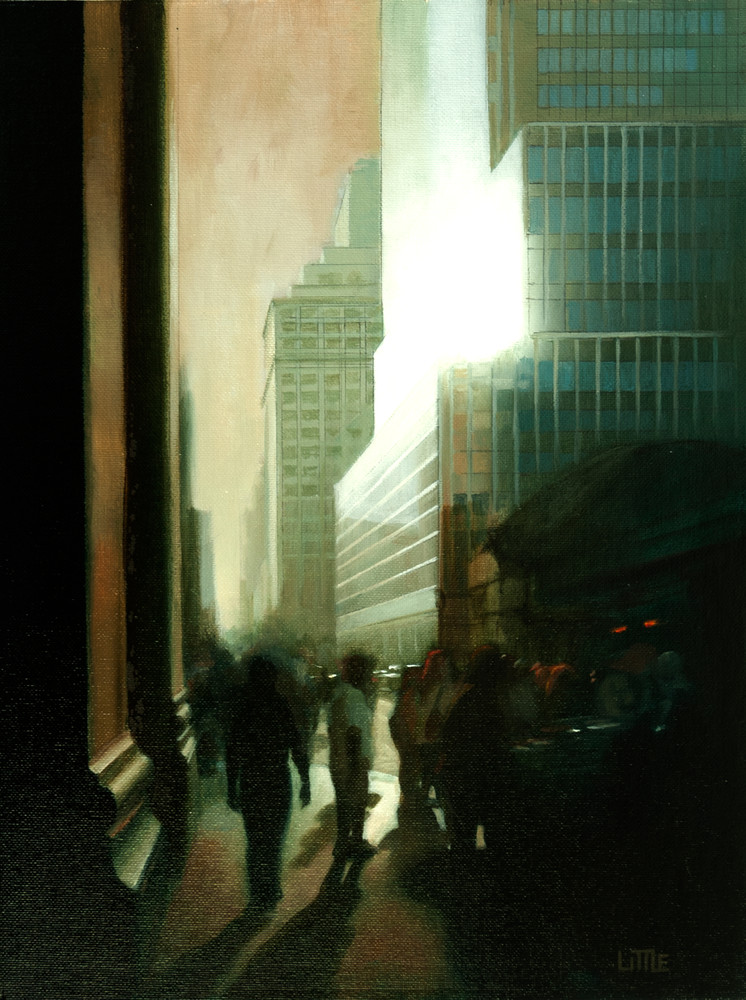 'Glare' print of original oil painting by Ed Little, Bridgewater, CT