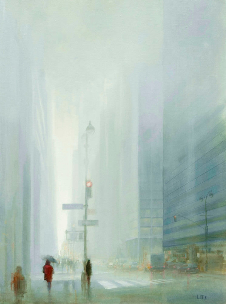'Light Drizzle' Print of oil Painting by Ed Little, Bridgewater, CT