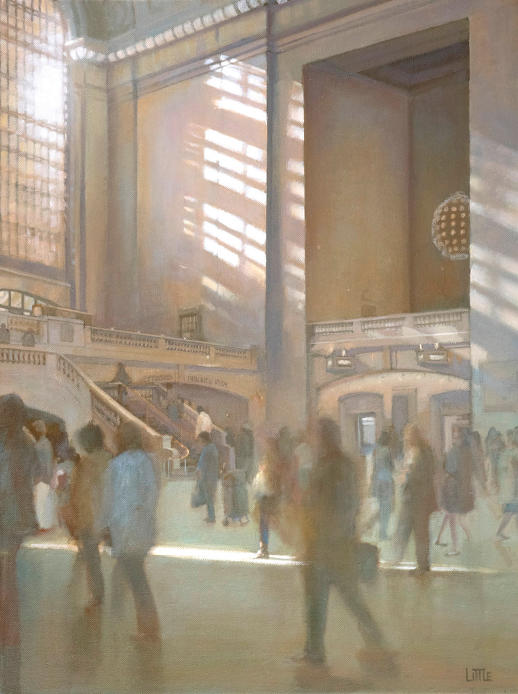 'Streaming In' print of original oil painting by Ed Little, Bridgewater, CT