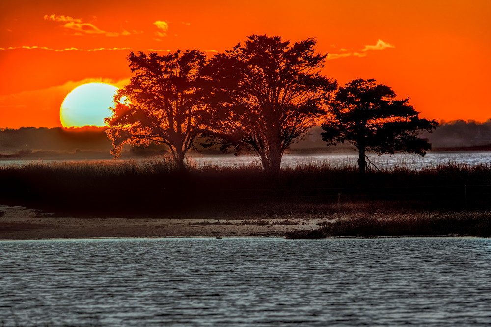Chappy Cape Poge Setting Sun Art | Michael Blanchard Inspirational Photography - Crossroads Gallery