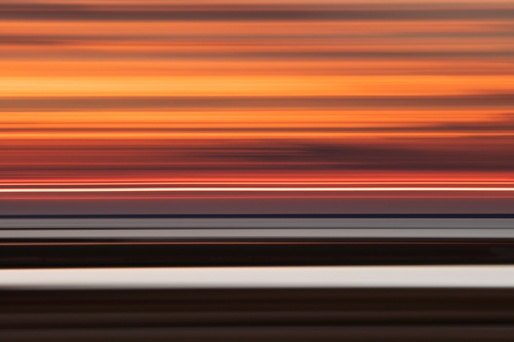 Marshland Sunset Abstract Photography Art | Silver Sun Photography