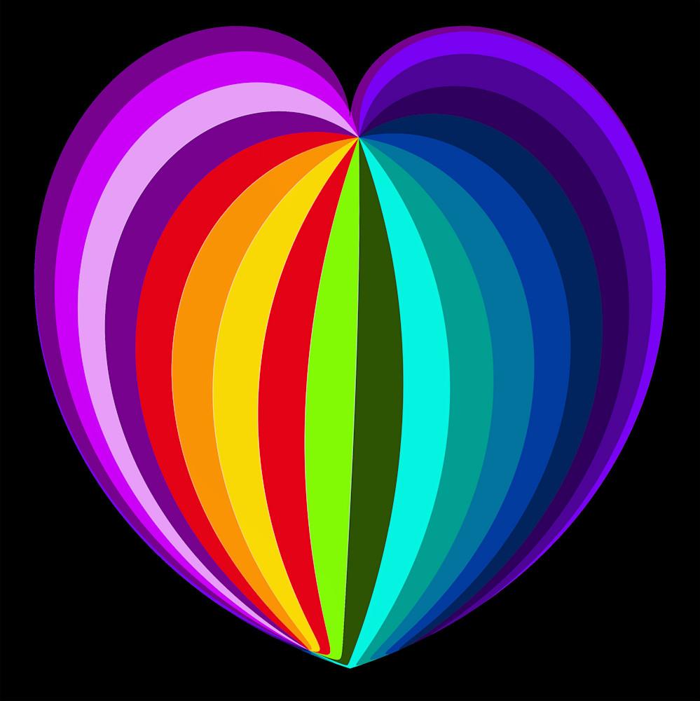 Rainbow Heart Art | karenihirsch