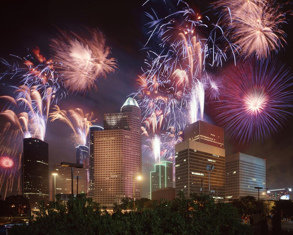 Fireworks Over Houston, 4 July 1997 Photography Art | Rick Gardner Photography
