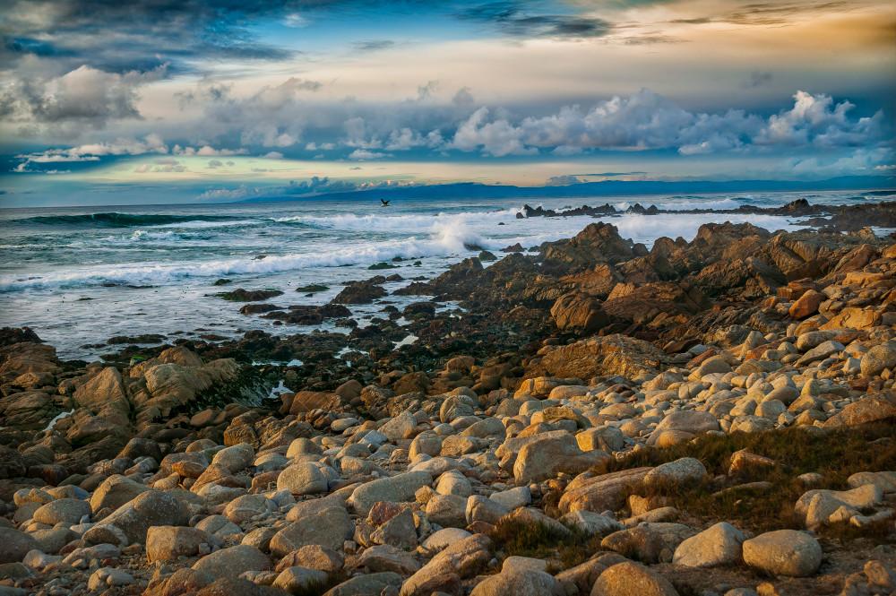 Pacific Ocean Sunet at Pebbel Beach
