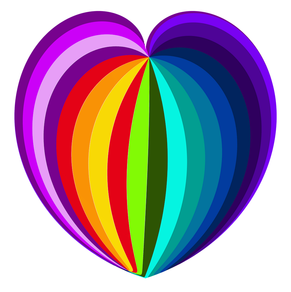 Rainbow Heart/Transparent Background/Merch Art | karenihirsch