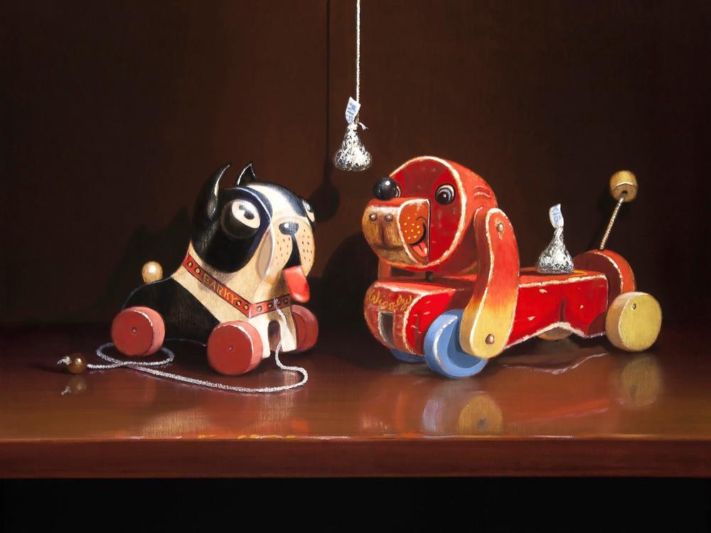 Puppy Love Art | Richard Hall Fine Art