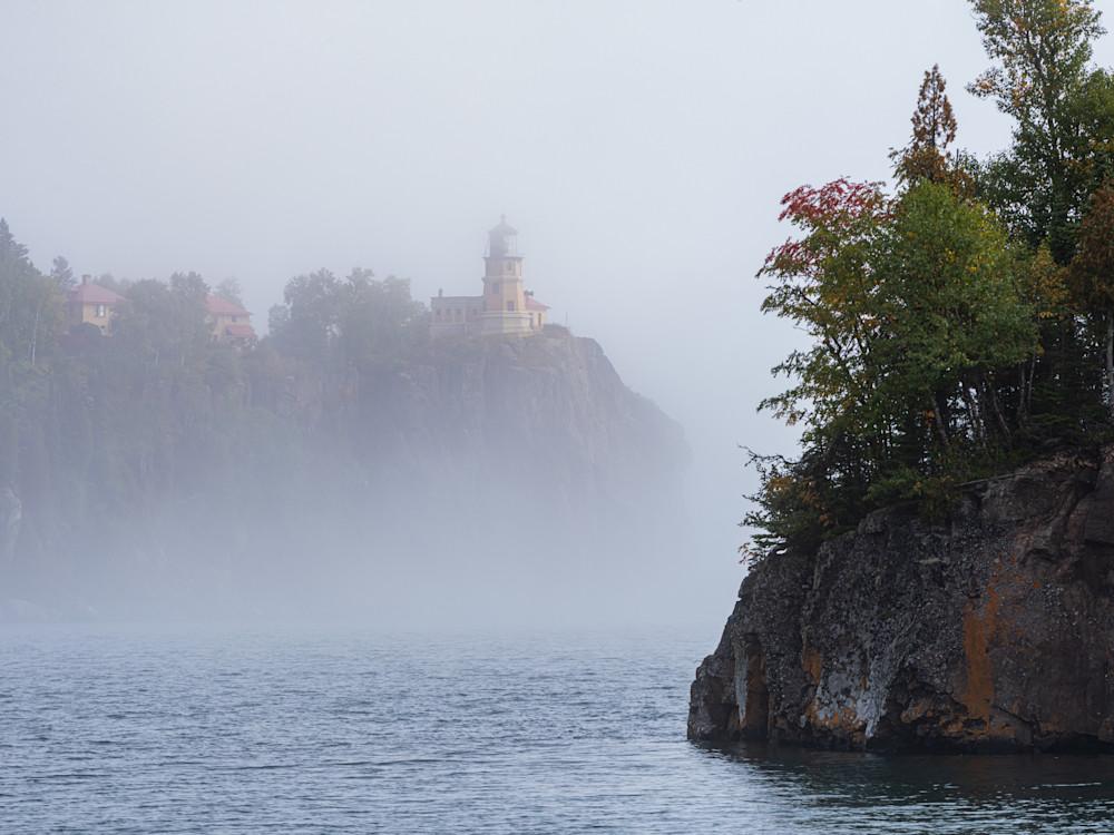 Split Rock in Fog