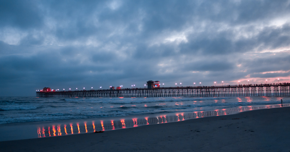 Oceanside Pier Lights after Sunset