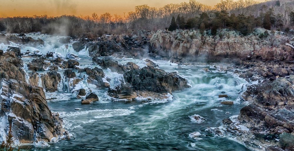 Great Falls - Icy Morning Glow