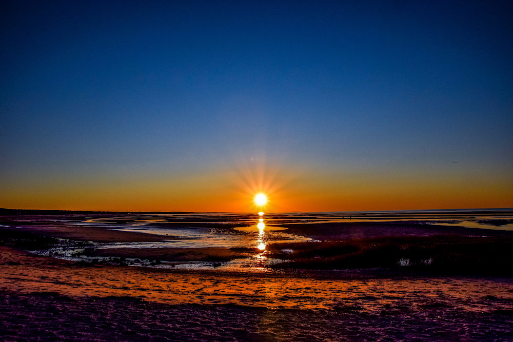 Low Tide Sunset Photography Art   The Colors of Chatham