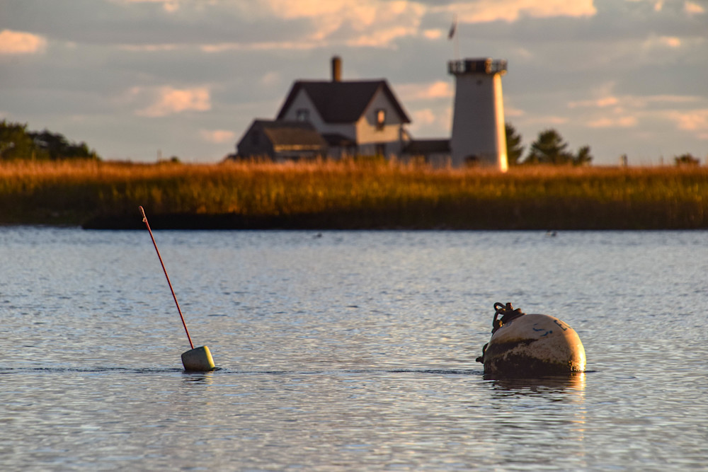 Stage Harbor Light   Sears Road View Photography Art   The Colors of Chatham