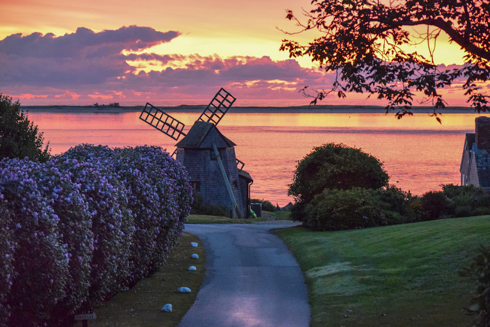 Shore Road Windmill Photography Art   The Colors of Chatham