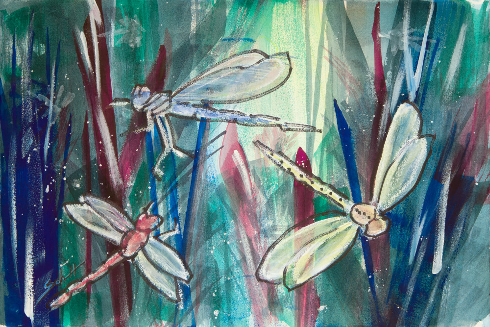 Dragonfly Mess Art | Elaine Schaefer Hudson Art