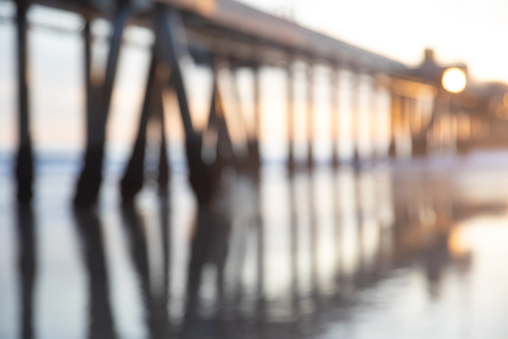 abstract photography, pier photo, blur blurry photography, Los Angeles photo, large abstract wall art, beach decor,