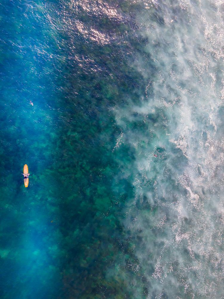 Aerial Surfer, Beach Photography, Ocean print, coastal wall art, Los Angeles, Malibu, California, Large Beach photo