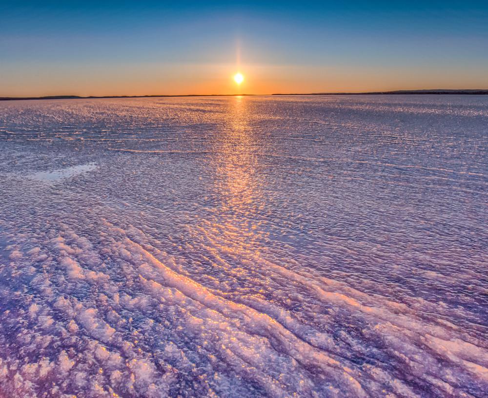 Long Point Frozen Winter Sunset Art | Michael Blanchard Inspirational Photography - Crossroads Gallery
