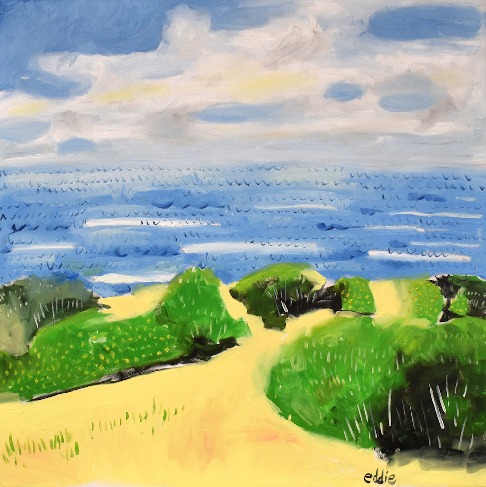 Original Oil Painting at Sunset Cliffs in San Diego California