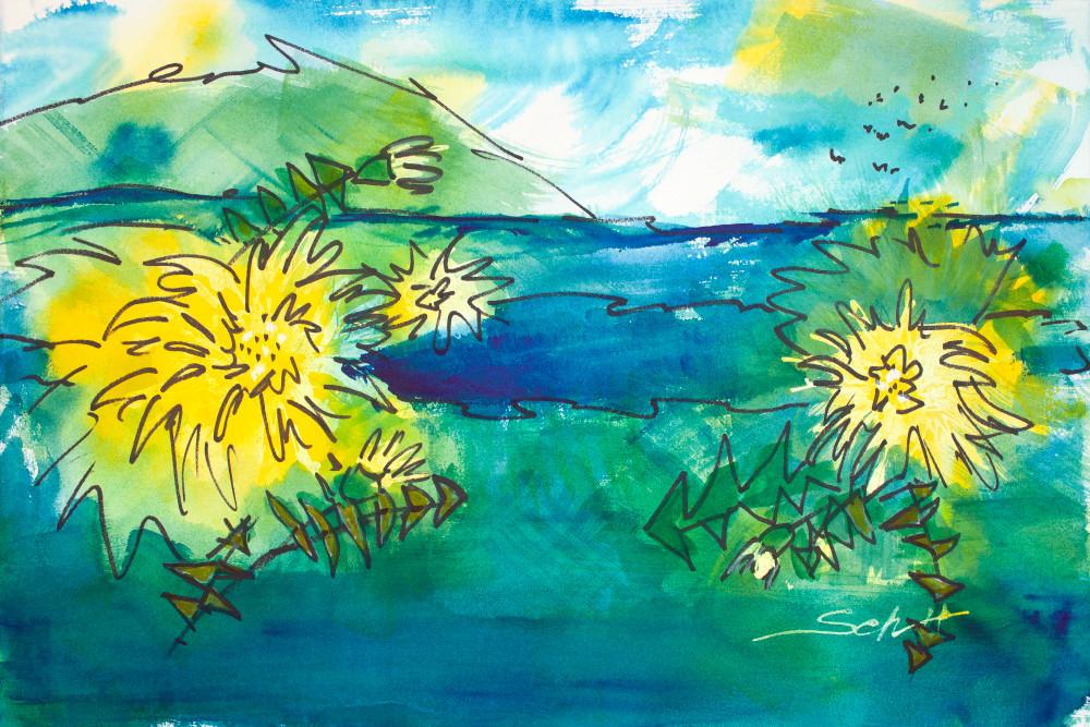 #12 Dandelion Spring Art | Elaine Schaefer Hudson Art