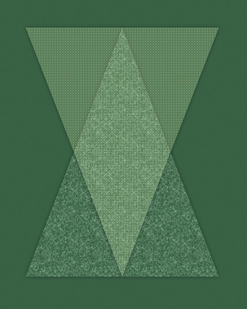 Abstract Geometric Minimalist Green Diamond