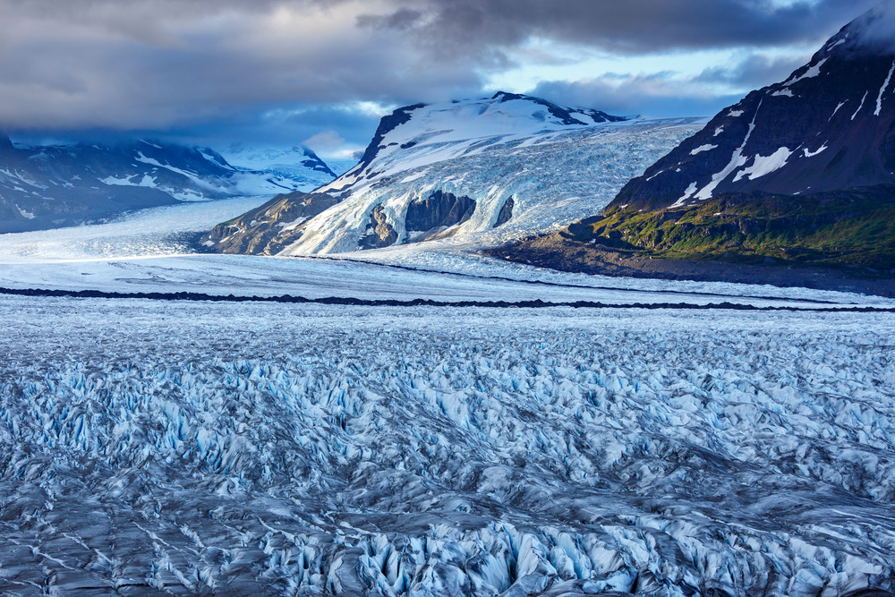 Summer landscape of Knik Glacier and Chugach Mountains in Southcentral, Alaska  Photo by Jeff Schultz/  (C) 2020  ALL RIGHTS RESERVED