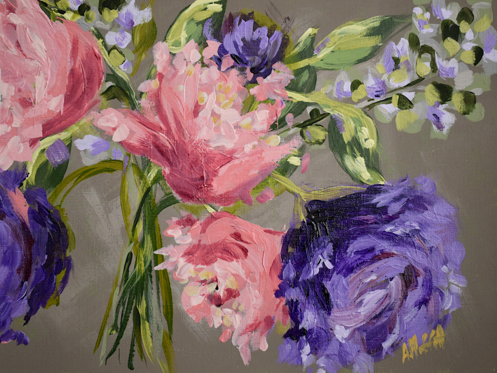 Giclee Art Print -Summer Peonies- by April Moffatt