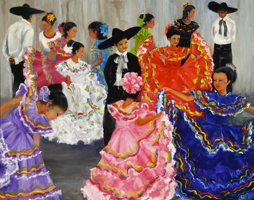 Fiesta Dancers Art   Marsha Clements Art