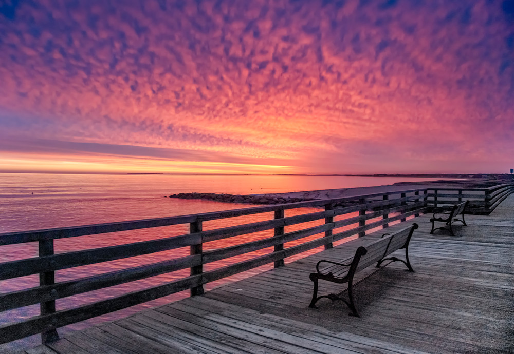 Jaws Bridge Winter Fire Sunrise Art | Michael Blanchard Inspirational Photography - Crossroads Gallery
