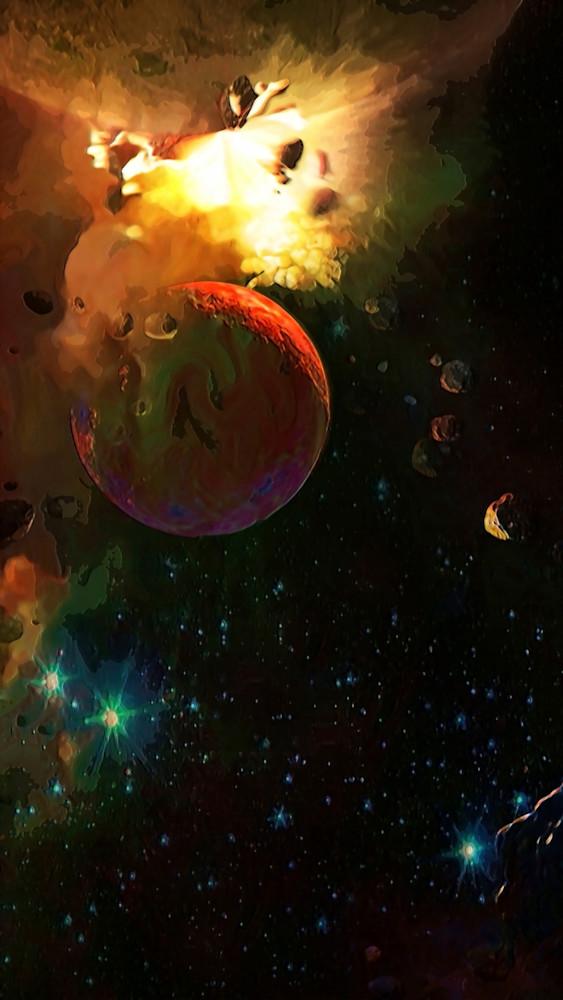 Cataclysym In Space Art | Don White-Art Dreamer