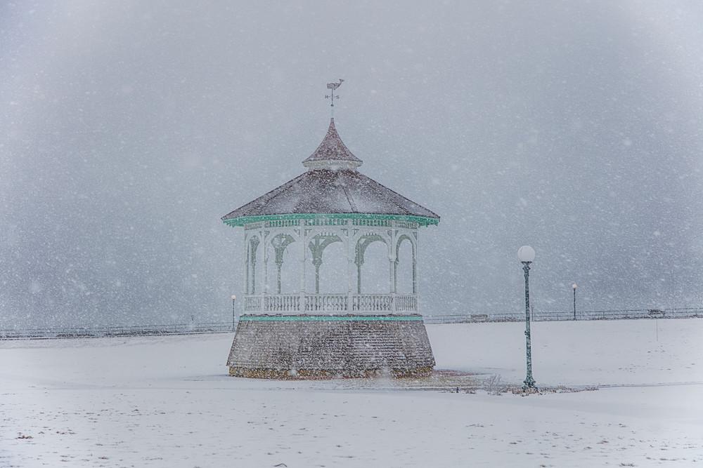 Bandstand Snow Art   Michael Blanchard Inspirational Photography - Crossroads Gallery