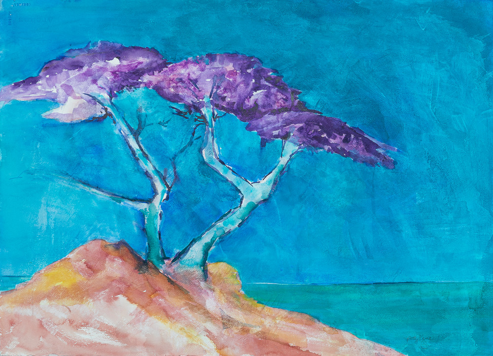 Purple Tree Of Strength Art | ArtByPattyKane