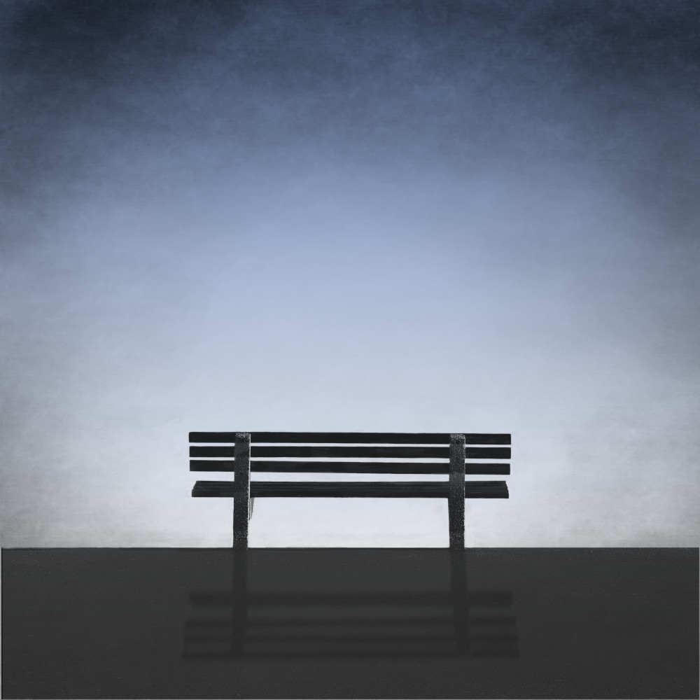 Bench With A Blue View Art | Roy Fraser Photographer
